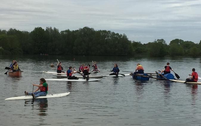 Paddle Boarding at Lackford Lakes